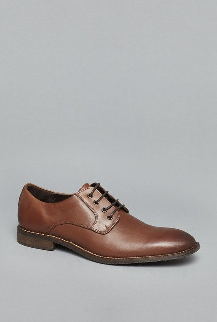 Azzurro Tan Oxford Formal Shoes
