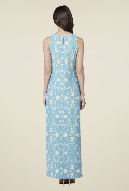 AND Blue Charlotte Printed Maxi Dress