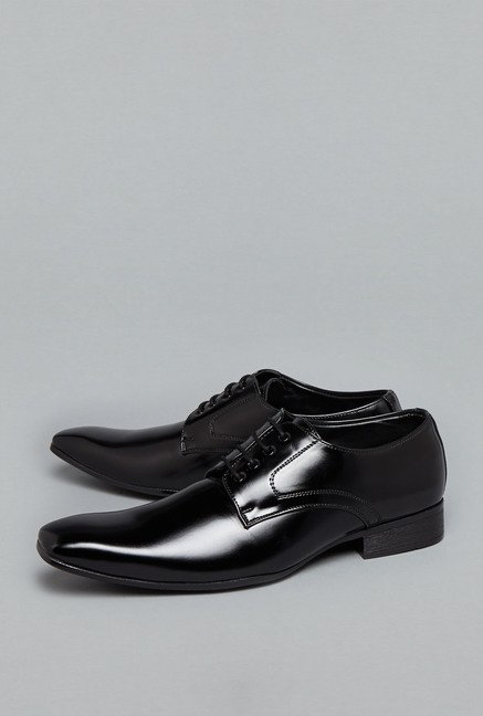 Azzurro Black Lace Up Formal Shoes