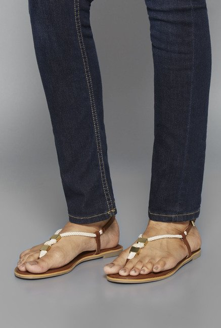 Head Over Heels Brown Thong Sandals