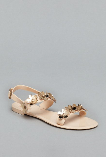Head Over Heels Nude Back Strap Sandals