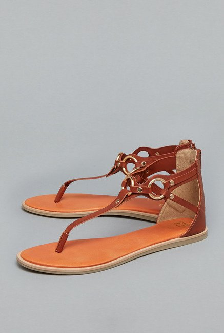 Head Over Heels Tan Gladiator Sandals