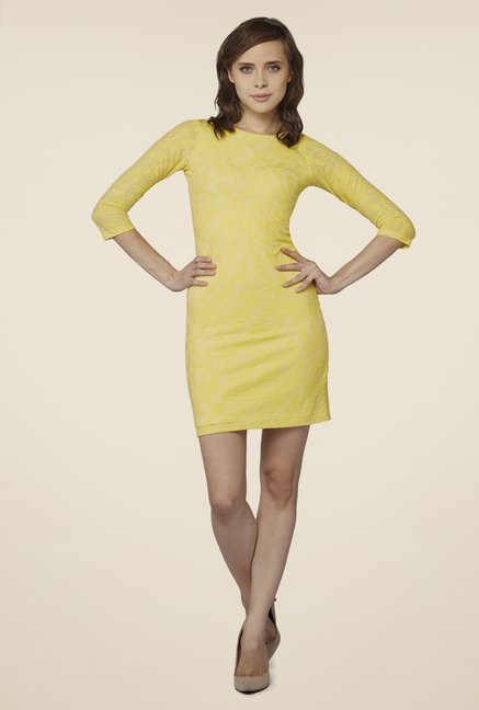 AND Yellow Lace Dress