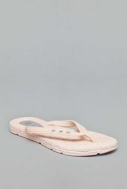 Head Over Heels Nude Jelly Flip Flops
