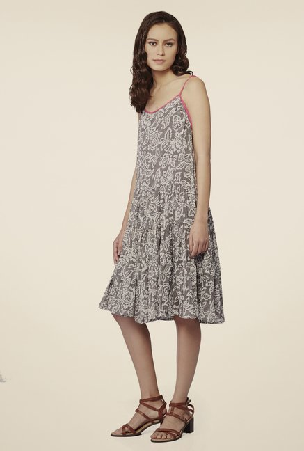 AND Grey Printed Dress
