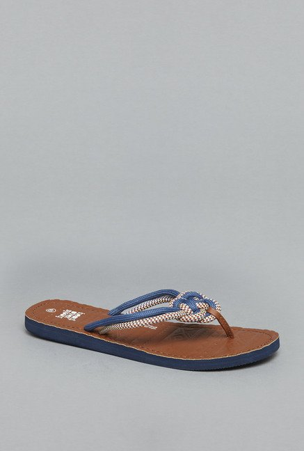 Head Over Heels Navy Thong Flip Flops