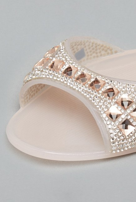 Head Over Heels Nude Sling Back Sandals