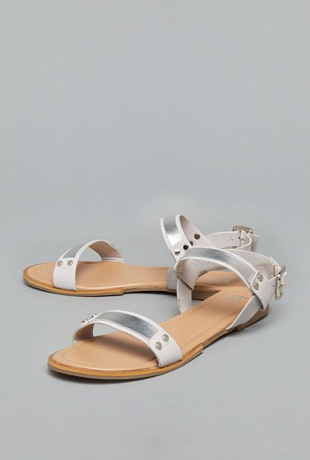 Head Over Heels Grey Ankle Strap Sandals