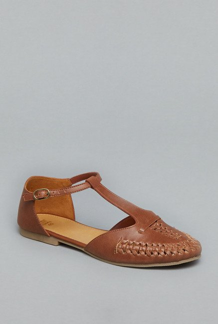 Head Over Heels Tan Ankle Strap Sandals