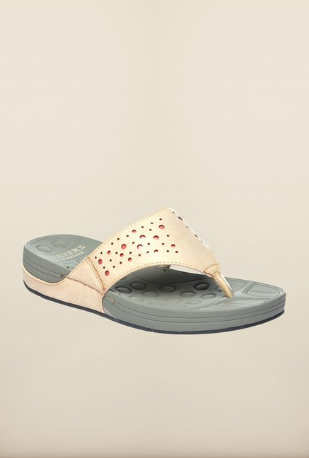 Pavers England Beige Thong Sandals