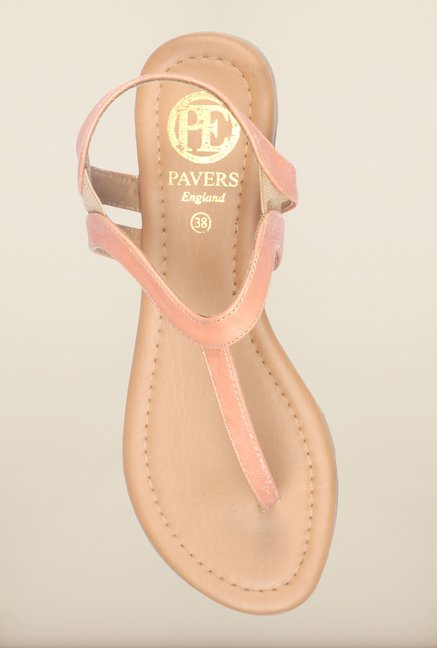 Pavers England Peach Back Strap Sandals
