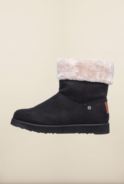 Pavers England Black Snow Boots