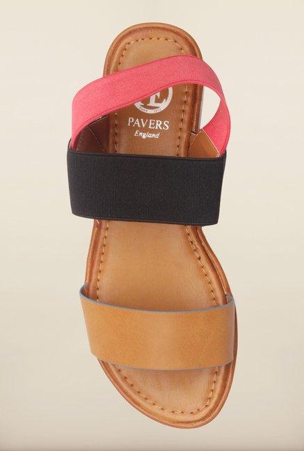 Pavers England Multicolor Back Strap Sandals
