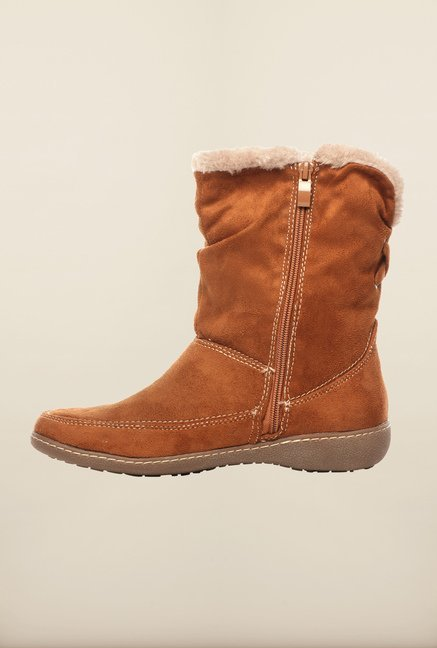 Pavers England Tan Snow Boots