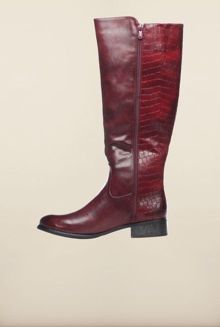 Pavers England Burgundy Cowboy Boots
