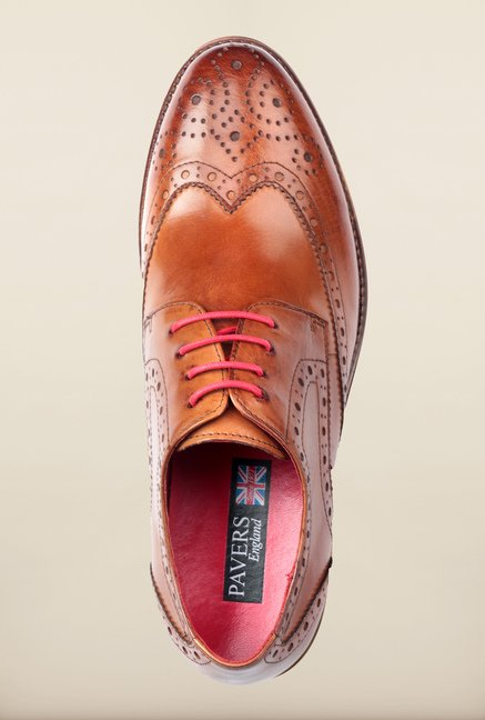 Pavers England Tan Brogue Shoes