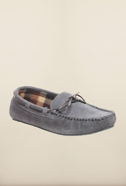 Pavers England Grey Boat Shoes