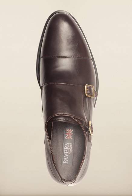 Pavers England Brown Monk Shoes