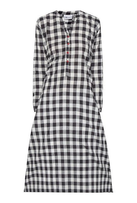 Utsa Black Checks Kurta