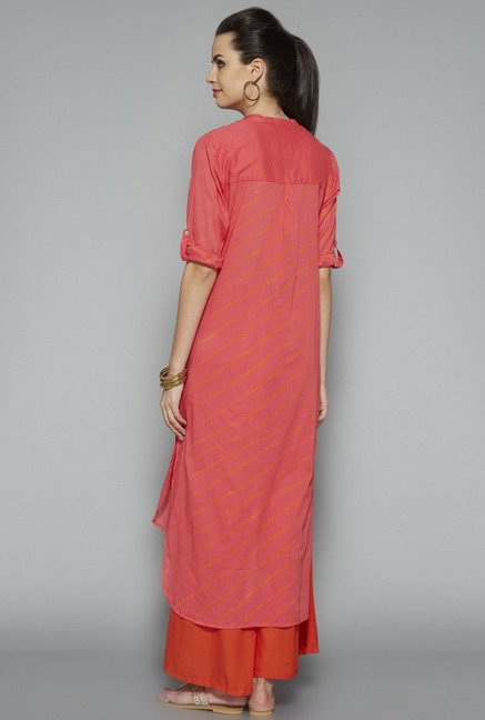 Utsa Pink Striped Kurta