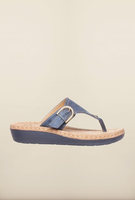 Pavers England Blue Thong Sandals