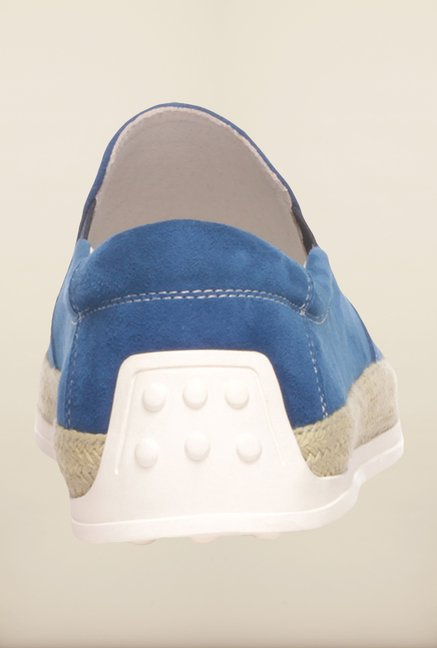Pavers England Blue Plimsoll Shoes
