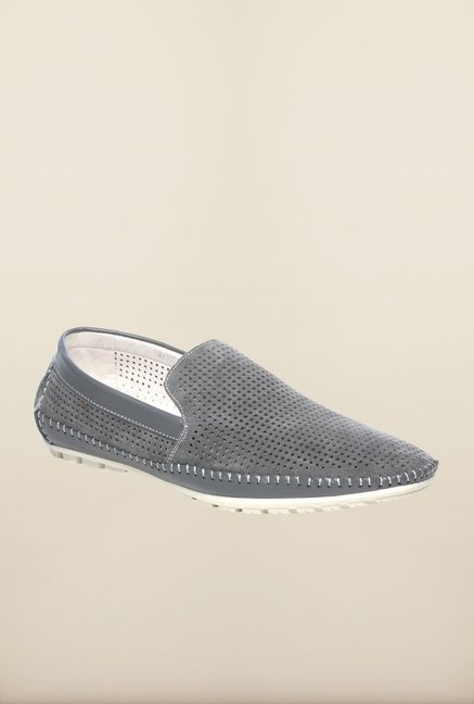 Pavers England Grey Casual Loafers