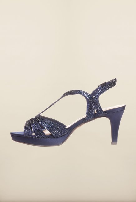 Pavers England Navy Back Strap Sandals