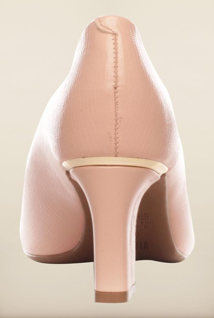 Pavers England Nude Peep Toe Shoes