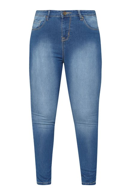 Sassy Soda Dark Blue Washed Slim Fit Jeans
