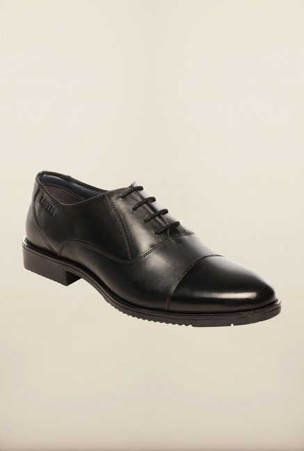 Pavers England Black Leather Oxford Shoes