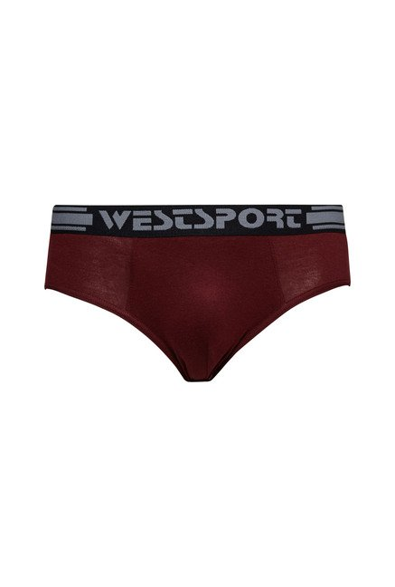 Westsport Maroon Cotton Briefs (Pack Of 2)