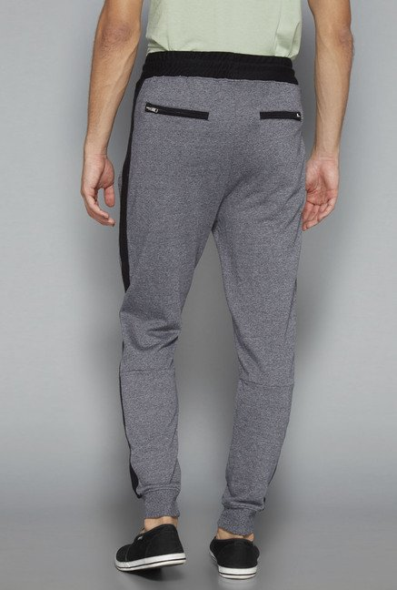 Nuon Grey Solid Slim Fit Jogger