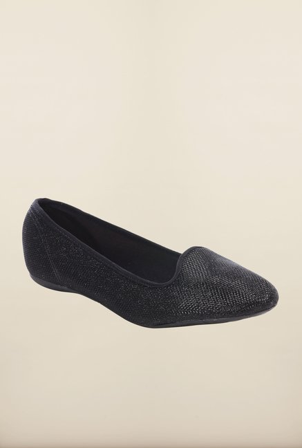 Pavers England Black Casual Ballerinas