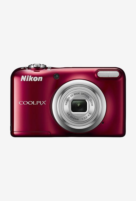 Nikon Coolpix A10 Point and Shoot Camera 16 GB Card + Camera Pouch  Red