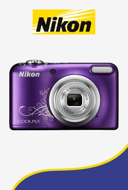 Nikon Coolpix A10 Point and Shoot Camera (Purple)