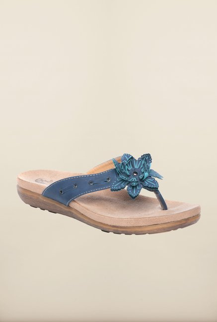 Pavers England Navy Thong Sandals