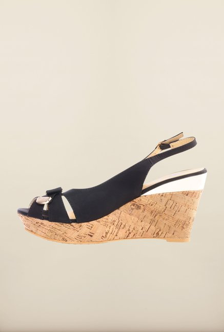 Pavers England Black Back Strap Wedges