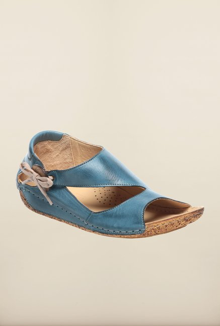 Pavers England Blue Casual Sandals
