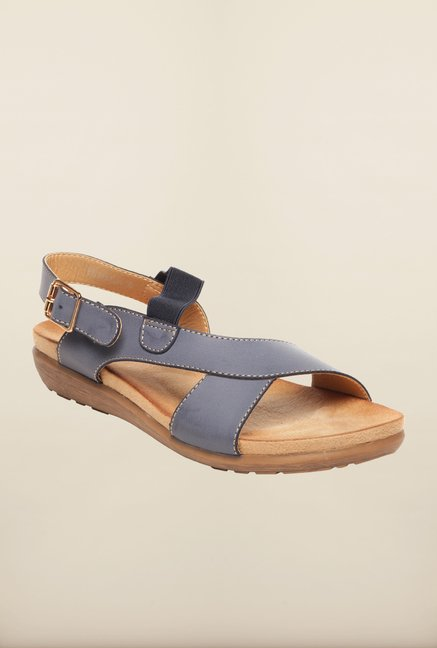 d97386fce50 Buy Pavers England Navy Back Strap Sandals Online at best price at TataCLiQ