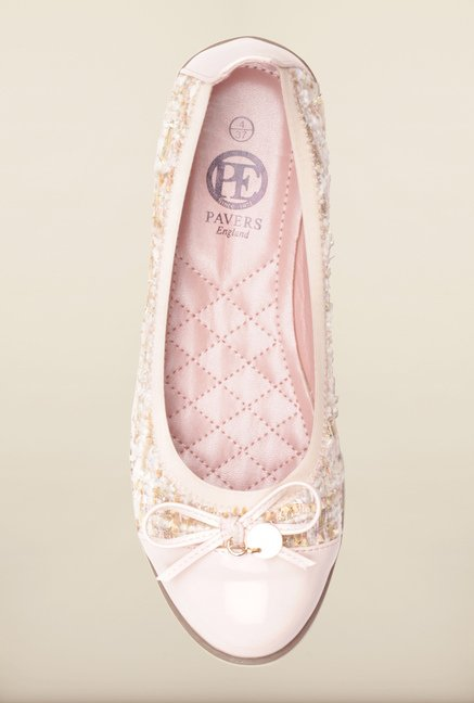 Pavers England Light Pink Flat Ballerinas