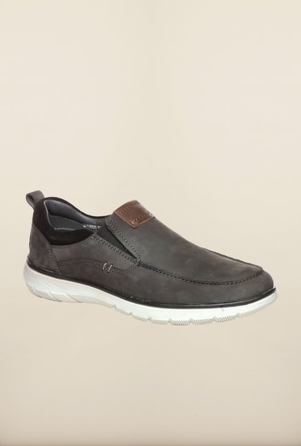 Pavers England Grey Slip-On Shoes