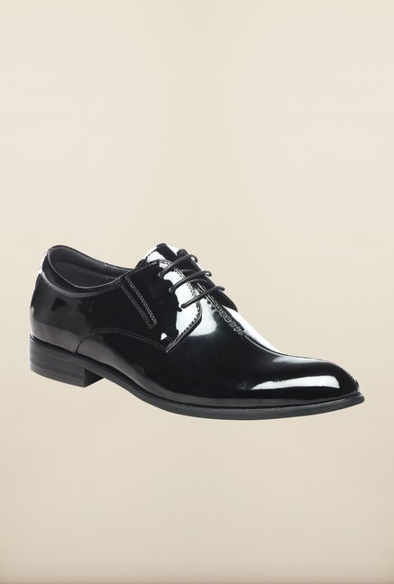 Pavers England Black Patent Derby Shoes