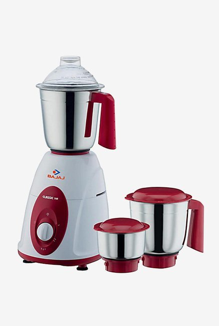 14ed73098b3 Buy bajaj classic 750w mixer grinder white   maroon Online at best price at  TataCLiQ