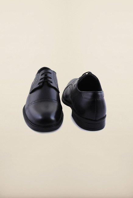 Arrow Black Leather Lace Up Formal Shoes
