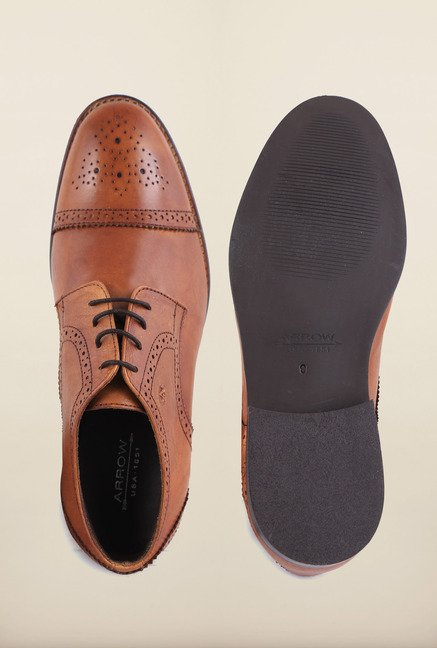 Arrow Tan Leather Formal Shoes