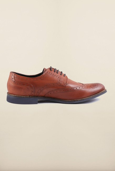 US Polo Assn. Tan Leather Lace Up Shoes