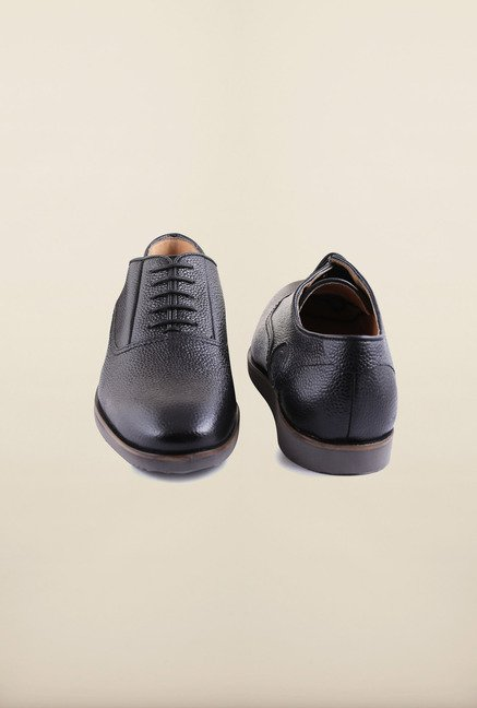 US Polo Assn. Black Leather Lace Up Shoes