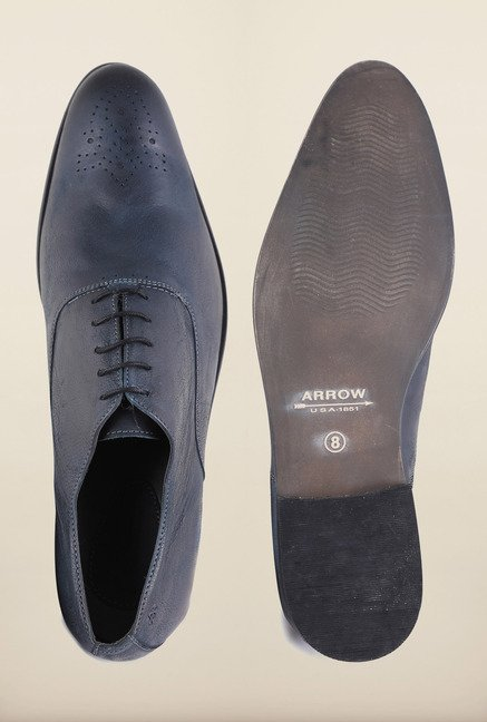 Arrow Dark Blue Leather Formal Shoes