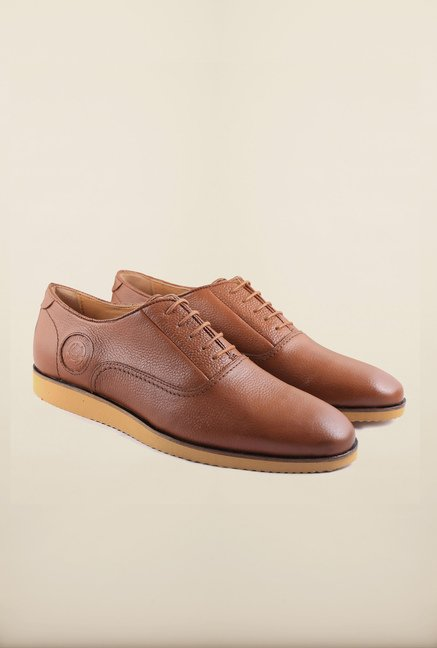 US Polo Assn. Tan Leather Derby Shoes